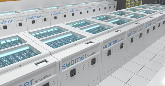 Submersion cooling data centre